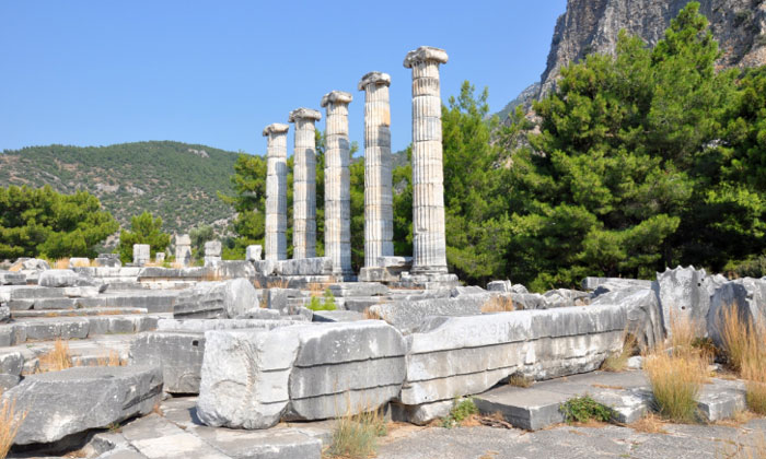 Руины храма Афины в Приене