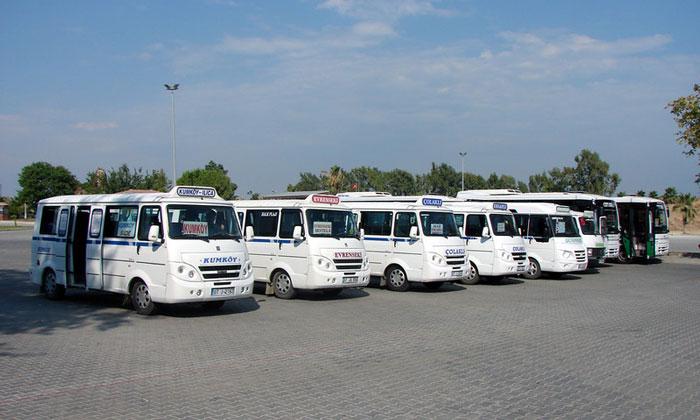 Долмуши и автобусы Сиде
