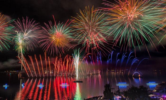 Фестиваль фейерверков в Женеве