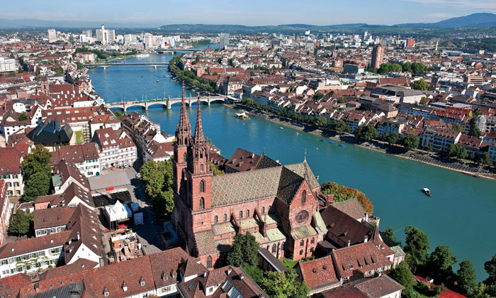 Город Базель в Швейцарии