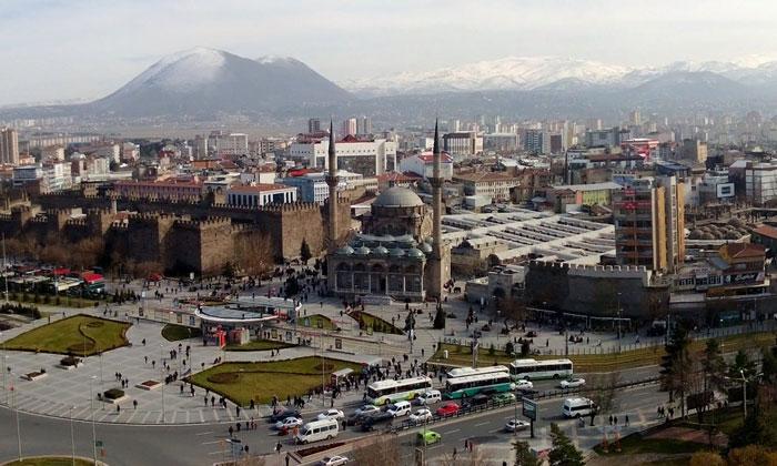 Город Кайсери в Турции