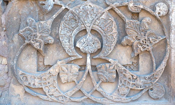 Интерьер внешней стены Северного портала Великой мечети Дивриги