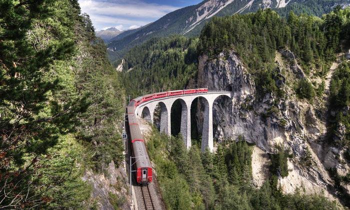 Ретийская железная дорога Швейцарии