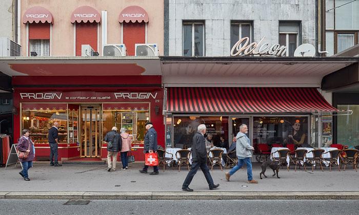 Кондитерская Progin и кафе Odeon в Берне