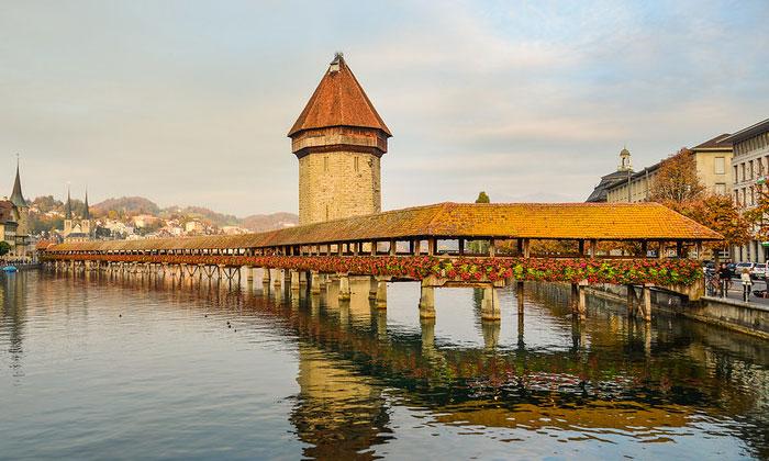 Часовенный мост Капельбрюкке (Люцерн)