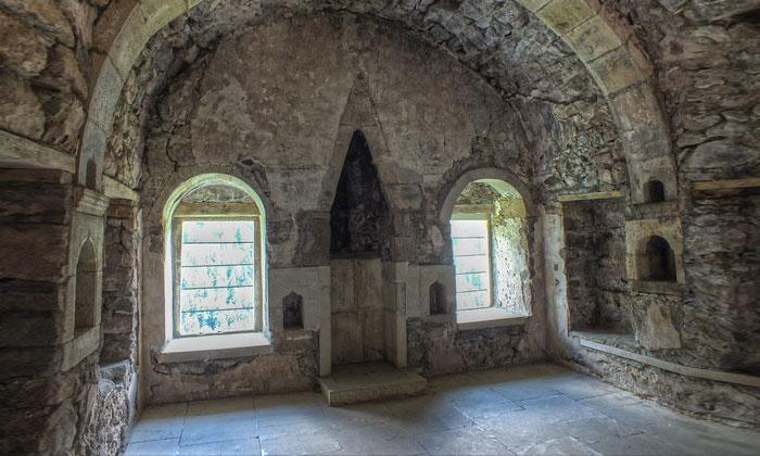 Одно из помещений монастыря Панагия Сумела в Турции