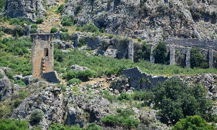 Руины античного города Силлион