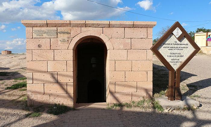 Вход в подземный город Озонак