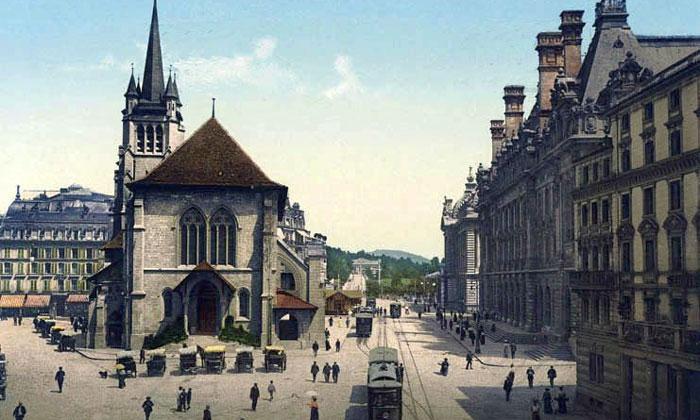 Площадь Сен-Франсуа начала XX века
