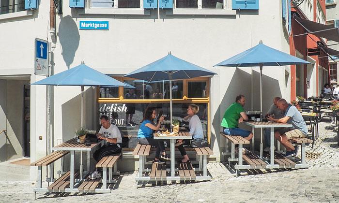 Кафе «Delish» в Цюрихе