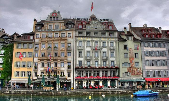 Отель «Des Alpes» в Люцерне