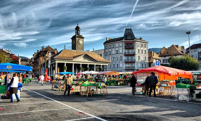 Рыночная площадь Веве
