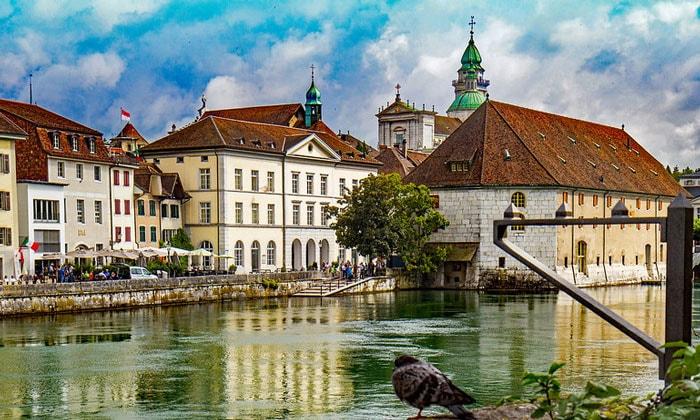 Город Золотурн в Швейцарии