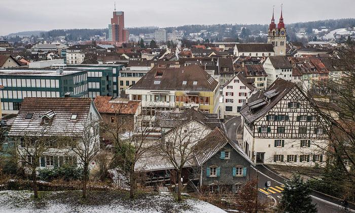Город Винтертур в Швейцарии