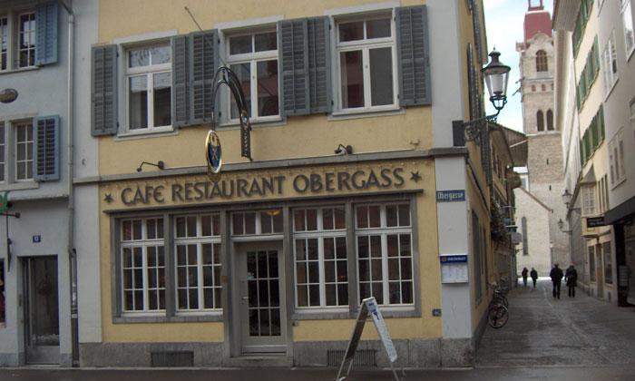 Кафе-ресторан «Obergass» в Винтертуре