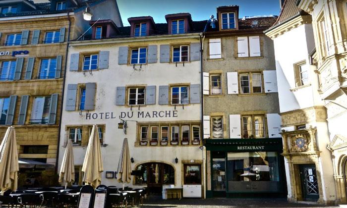 Отель du Marche в Невшателе