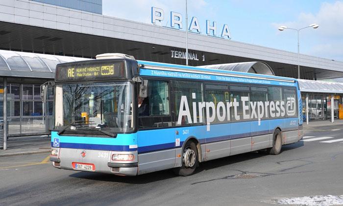 Автобус из аэропорта Вацлава Гавела в Прагу