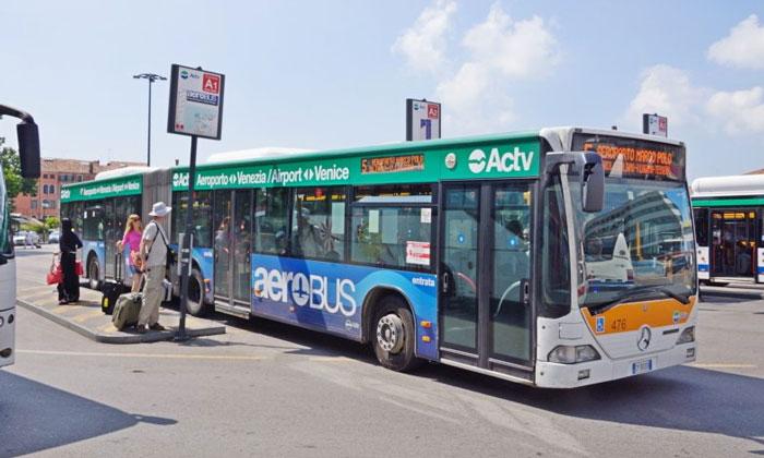 Автобус ACTV № 5 из аэропорта Марко Поло в Венецию
