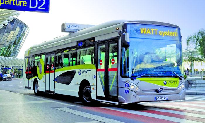 Электрический автобус из аэропорта Ниццы