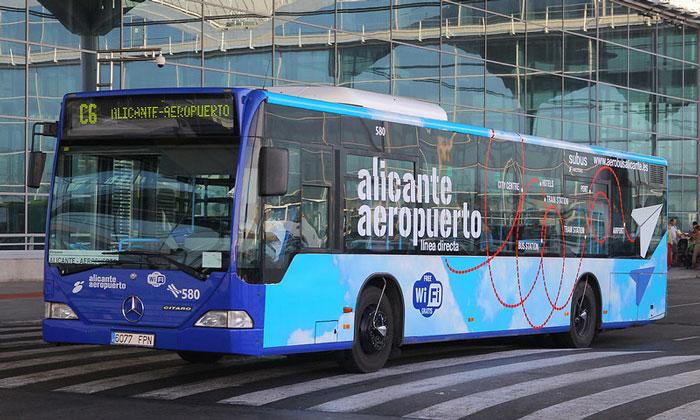 Городской автобус из аэропорта Эльче в Аликанте