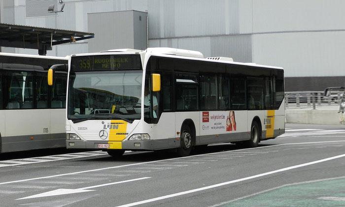 Автобус De Lijn из аэропорта Завентем в Брюссель