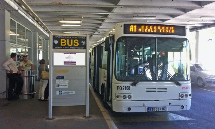 Автобус A1 из аэропорта Николы Тесла в Белград