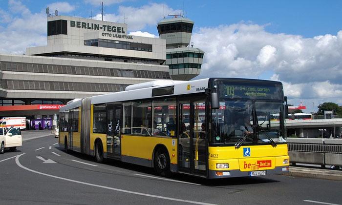 Муниципальный автобус 109 из аэропорта Тегель в Берлин
