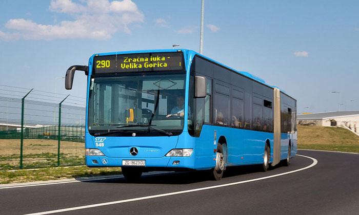 Автобус ZET из аэропорта Загреб-Франьо Туджман