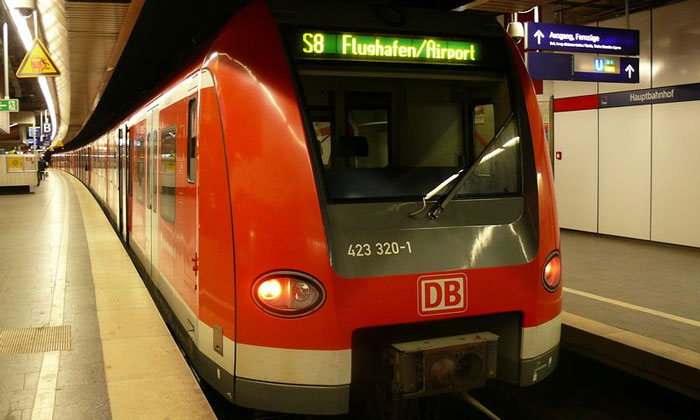 Электричка S-Bahn из аэропорта Мюнхена