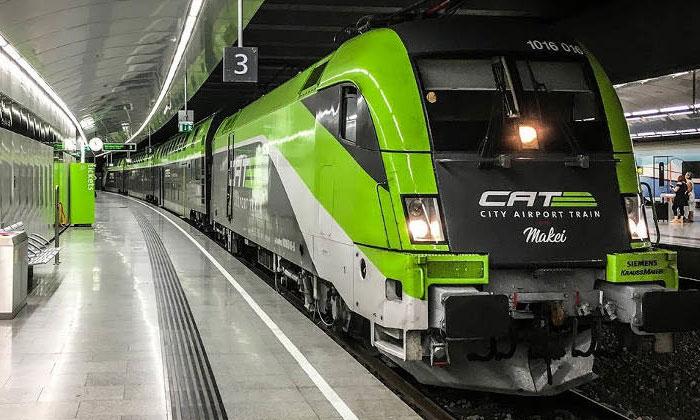 Городской поезд (CAT) из аэропорта Швехат в Вену