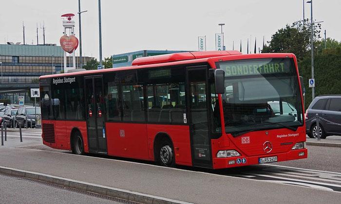 Муниципальный автобус из аэропорта Штутгарта