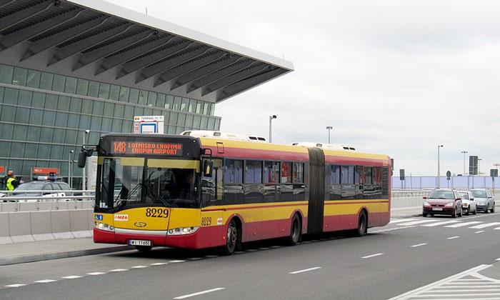 Автобус 148 из аэропорта Варшав-Фредерик Шопен