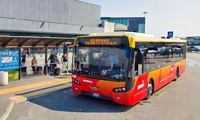 Автобус ATB из аэропорта Орио-аль-Серио-Бергамо