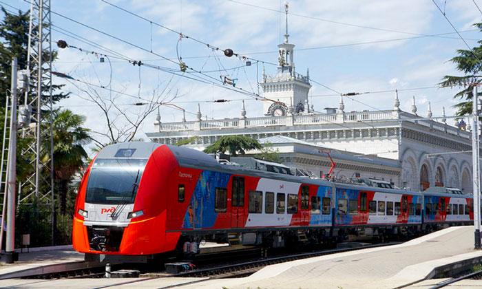 Электропоезд Сочи-Красная Поляна