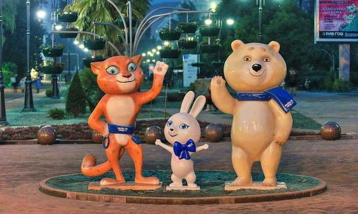 Олимпийские талисманы Сочи