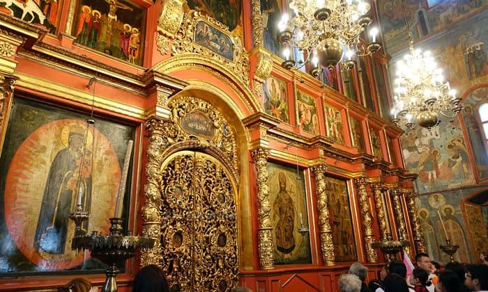 Царские врата иконостаса Архангельского собора Кремля