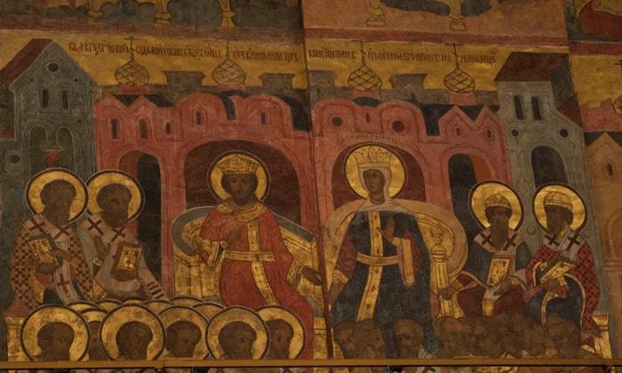 Фреска Апокалипсис Успенского собора Кремля