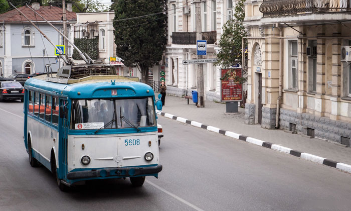 Ялтинский ретро-троллейбус в Крыму