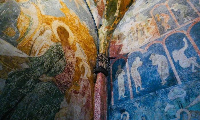 Настенные фрески Благовещенского собора Кремля