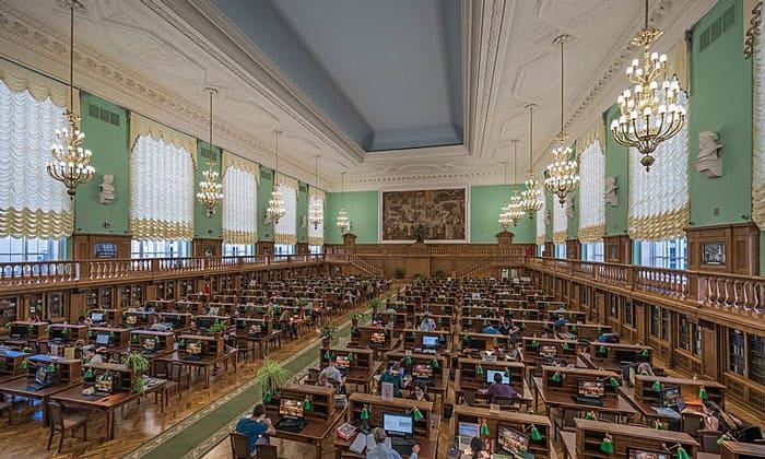 Читальный зал № 3 Государственной библиотеки в Москве