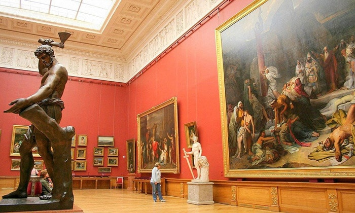 Экспозиция Пушкинского музея Москвы