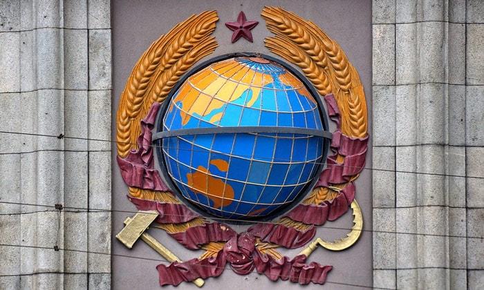 Глобус на здании телеграфа в Москве
