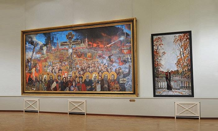 Картина «Вечная Россия» галереи Глазунова в Москве