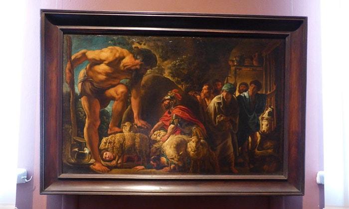 Картина «Одиссей в пещере Полифема» Пушкинского музея Москвы