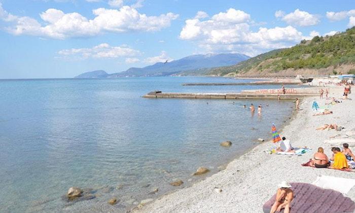 Пляж в Сатере