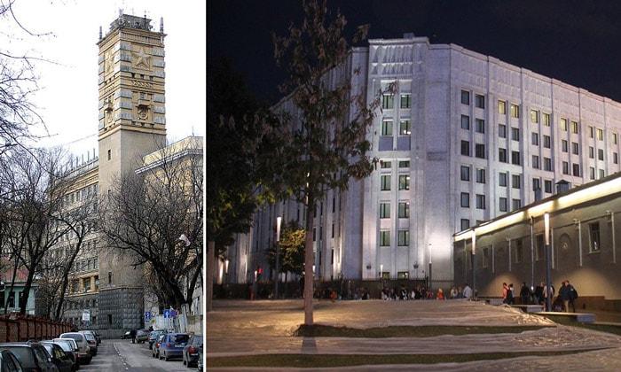 Старое и новое здание Генштаба в Москве
