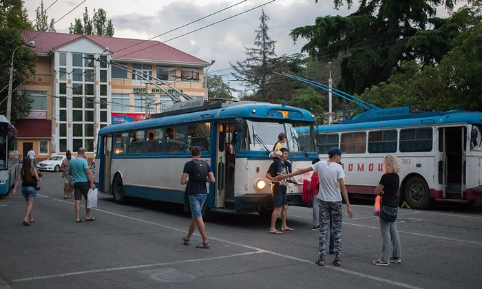 Старые троллейбусы Алушты
