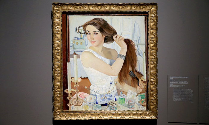 Картина «За туалетом. Автопортрет» Третьяковки Москвы
