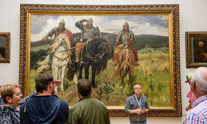 Картина «Богатыри» Третьяковской галереи Москвы