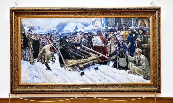 Картина «Боярыня Морозова» Третьяковской галереи Москвы